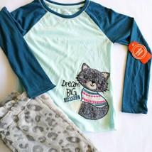 Girls Small 6 6x Cat Pajamas Long sleeve & Pants 2 piece set - $15.83