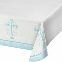 Divinity Blue Cross Plastic Tablecover Baptism Confirmation Communion Ch... - $7.69