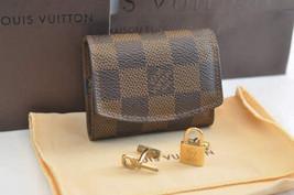 Louis Vuitton Damier Cuff Links Case / Cuff Links Gold Auth 2045 - $360.00
