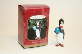 Hallmark Keepsake 1999 Ornament Bowling's a Ball Penguin With Box #06577 - $7.91