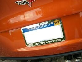 1 Engraved Chevy Corvette Vette C5 Chrome Metal License Plate Frame W Lo... - $19.79