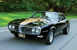1968 PONTIAC FIREBIRD BLACK AND GOLD POSTER 24 x 36 inch - $18.99