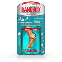 Band-Aid Brand Hydro Seal Blister Cushion Bandages, Waterproof Adhesive Pads, Me