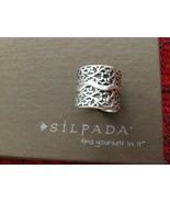 Sterling Silver Silpada R1741 Vine Scroll Cigar Band Ring Size 8 - $52.86
