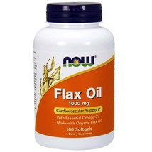 Now Foods Flax Oil - 1,000 mg - 100 Softgels - $13.52