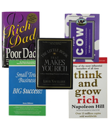 Book Bundle: Business & Money Management Rich Dad Poor Dad Think and Gro... - $19.97