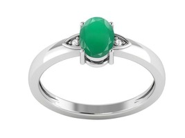 Party Wear Classic Green Onyx Gemstone 925 Sterling Silver Ring Sz 7 SHR... - $17.30