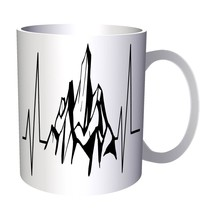 Mountains Heartbeat 11oz Mug t209 - $10.83
