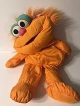 "Zoe Orange Girl Puffalump Squishy Soft Plush 1995 Sesame Street 30"" - $18.80"