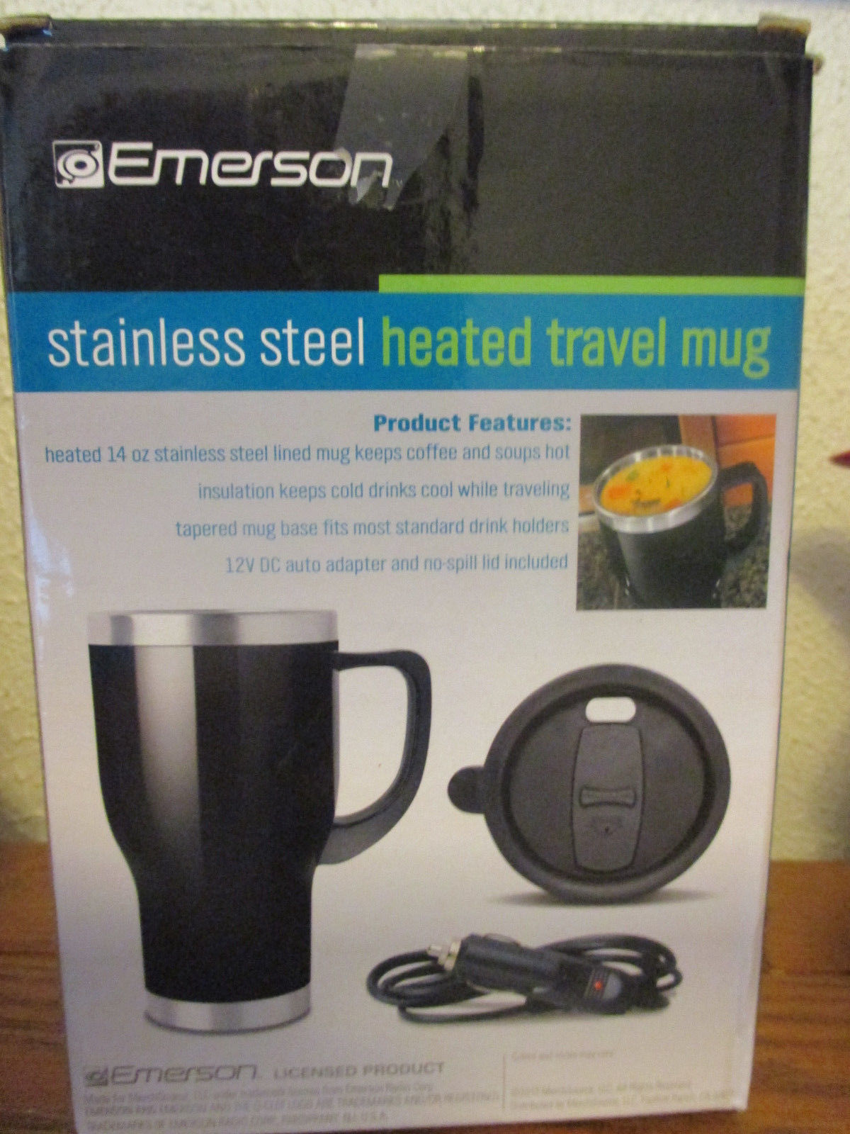 Emerson 14 oz stainless steel heated travel mug