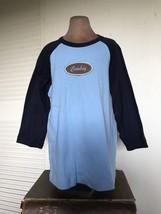 COWBOY AMERICAN APPAREL Blue TODDLER BOYS TSHIRT Baseball TOP Classic Ba... - $19.24