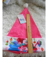 New Trolls by Dreamworks  plush Santa Stocking Hat Cap OSFM - $7.12