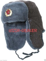Authentic Russian Army Ushanka Winter Hat with Soviet USSR Army Soldier Insignia - $23.33+