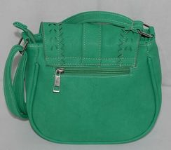 Non Branded Womens Parakeet Green Saddle Bag Purse With Shoulder Strap image 3