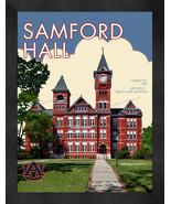 """Auburn Tigers """"Samford Hall"""" 13 x 16 Art Deco Framed Print  - $39.95"""