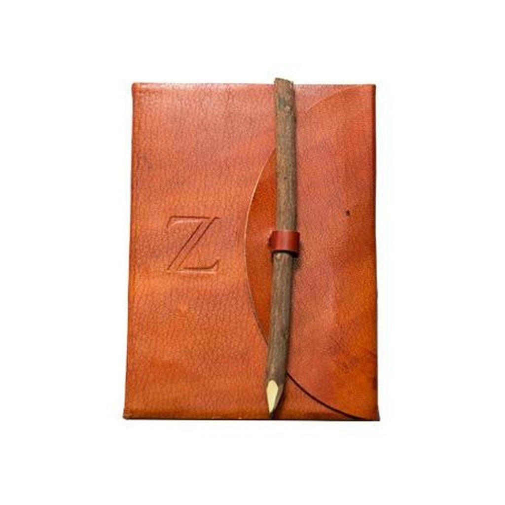Letter Z Alphabet Handmade Leather Journal
