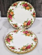"Set of 4 Royal Albert England Old Country Roses Bread Butter Plates 6.25"" - $23.76"