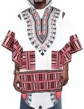 097fcbe6bbeae8 Daupanzees Mens African Print Dashiki Shirts Long Hooded Costume Poncho ...  -  25.78