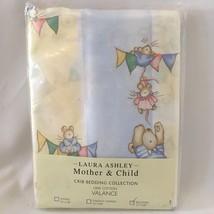 Laura Ashley Balloon Valance Yellow Blue Bunny Rabbit Mouse  Collection - $34.64