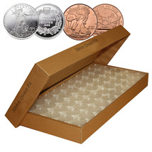 25 Direct Fit Airtight 39mm Coin Capsules for 1oz SILVER ROUNDS or COPPE... - $9.95
