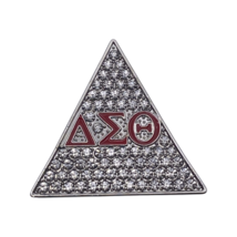 """Delta Sigma Theta - 2""""Brooch Clear Stones w/Letters - £14.34 GBP"""