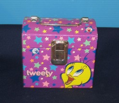 WARNER BROTHERS LOONEY TUNES TWEETY BIRD MINI LUNCH BOX OR JEWELRY CASE - $10.40