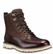 TIMBERLAND Britton Hill Moc-Toe Men's Brown Waterproof Boots A1523 Size 8 - $149.59