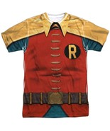 Robin Classic TV Show Burt Ward Costume Outfit Uniform Allover Front T-shirt top - $26.99 - $30.99