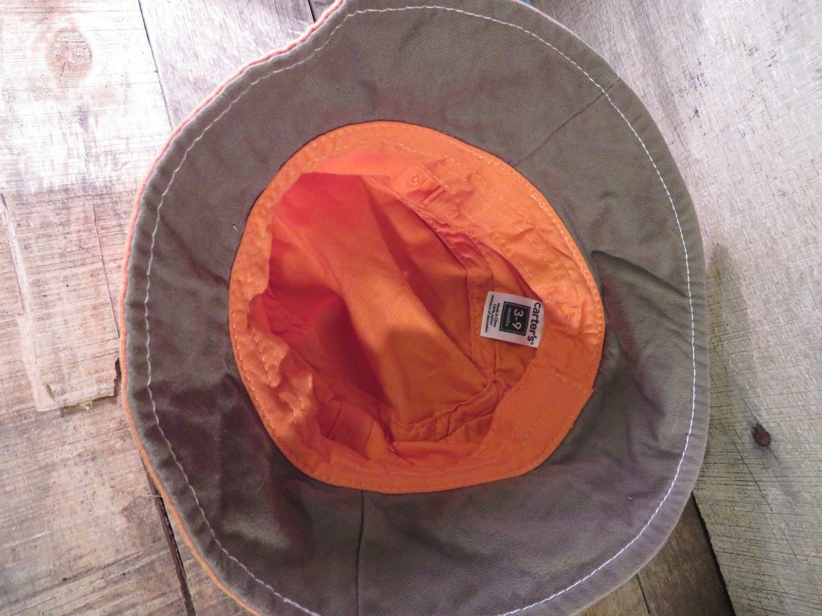 SAIL BOAT Carter's Bucket Cap Hat 3-9 Months Toddler Baby