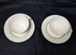 The French Saxon China Co Tea Cup & Saucer Set of 2, 22kt Gold, Pottery Made USA image 4
