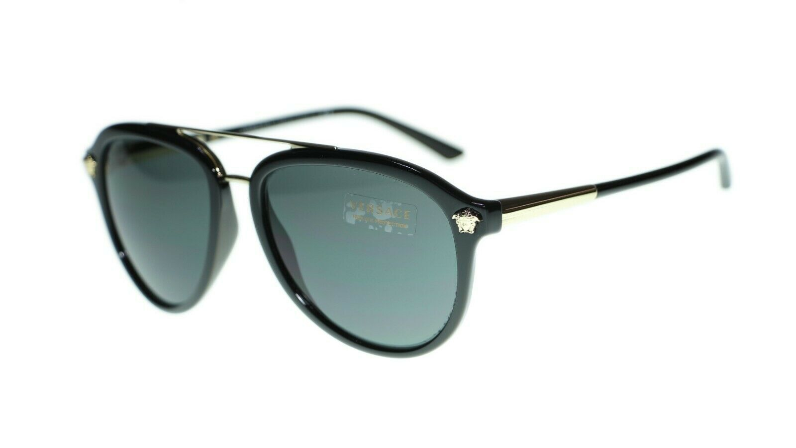 Versace Men Sunglasses VE4341 Pilot 58mm Authentic
