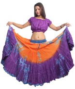 OMTD 25 Yard Gypsy Belly Dance Tribal Fusion Dance Jupe hippy boho festival - $43.37
