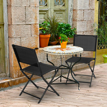 Set of 4 Outdoor Patio Folding Sling Chairs - £77.12 GBP