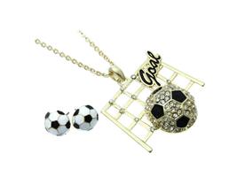 Goldtone Soccer Goal Jewelry Set - $14.95