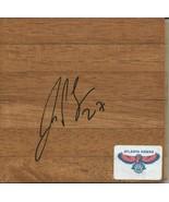 Zaza Pachulia Signed 6x6 Floorboard Hawks - $29.69