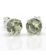 925 Sterling Silver Natural Fine Quality Green Quartz Gemstone Artistic ... - $119.99