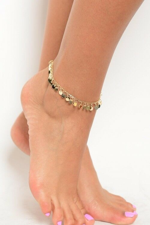 Primary image for Women Fashion Jewelry Gold Silver Tone Anklet Pom Pom Charms Boho Summer Resort