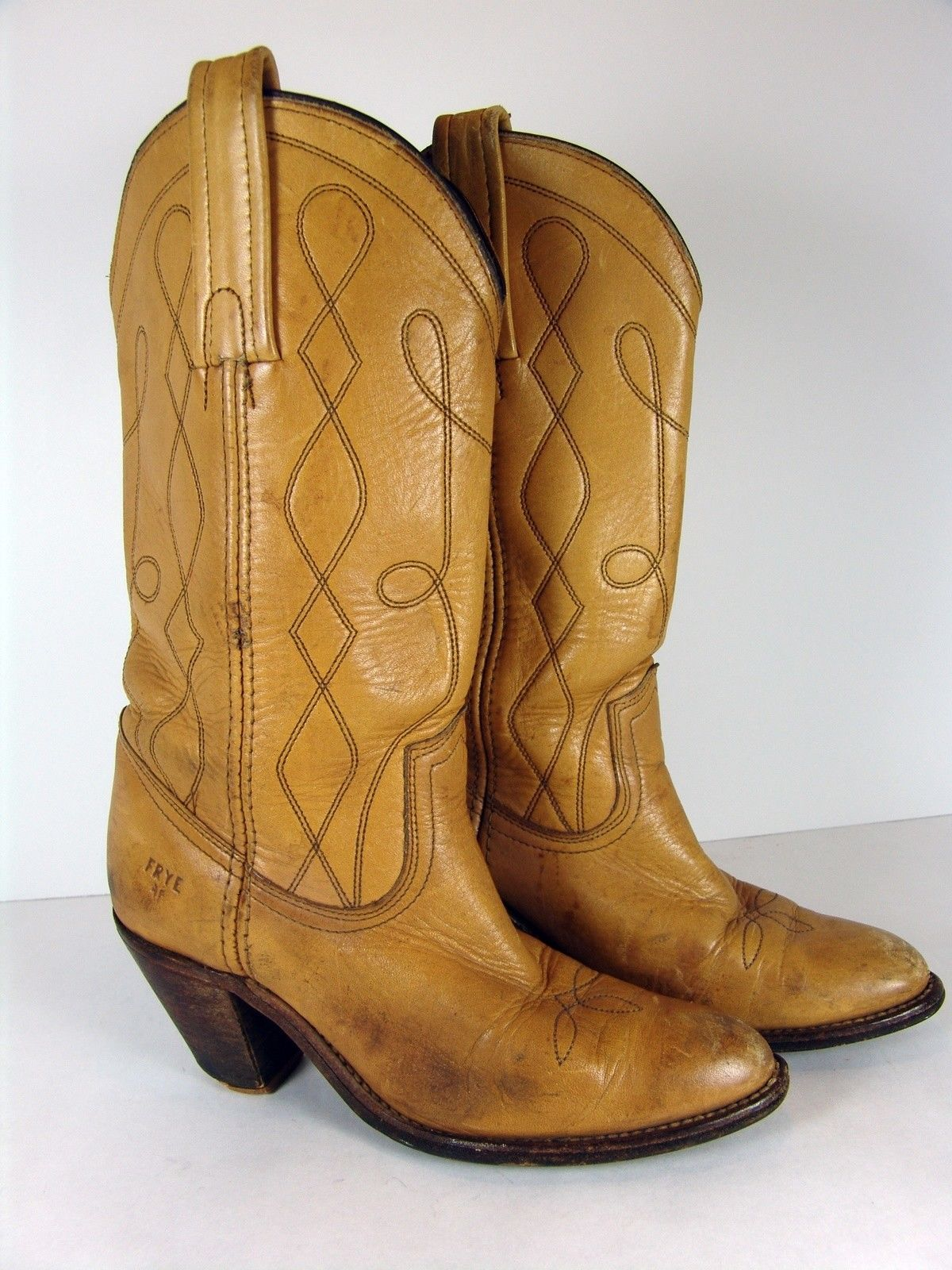 a450b455104d6 Vintage Frye Western Leather Boots Womens and 50 similar items