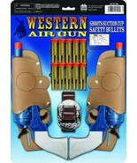 Western Air Gun Set With Holsters And Suction Cup Bullets New Fast Free ... - $27.72