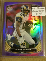 2014 Bowman - Rainbow Purple #v67 Tavon Austin : Rams - $0.95