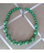 Vintage Esmor Green Mod Chunky Bead Retro Fashion Necklace - $45.00