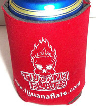 Tijuana Flats Beer Soda Can Cooler Koozie Soft Just In Queso Foundation - $4.95