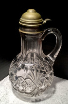 Antique Syrup Tarentum Glass Co Atlanta Diamond and Teardrops Royal Crystal - $48.99