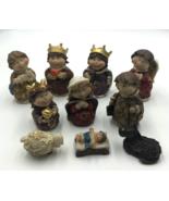 Don Mechanic Enterprises Vintage Baby Jesus Nativity Set of 10 Christmas... - $39.98