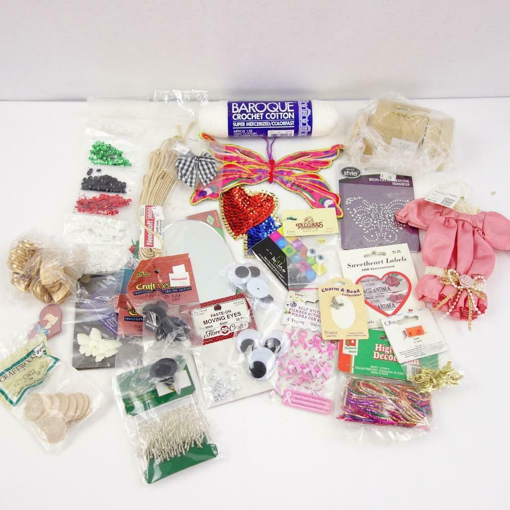 Primary image for Assorted Mixed Lot of Craft Supplies