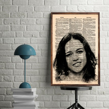 Celebrity Art Print-Michelle Rodriguez Art Print-Movie Prints-Michelle R... - $11.82