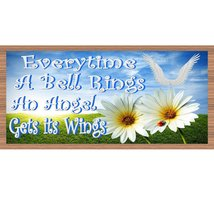 Angle Wood Signs - Everytime a Bell Rings - GS 1799-Spiritual Plaque - £6.86 GBP+