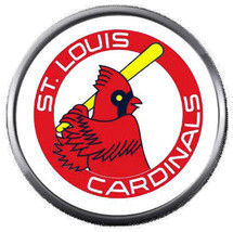 Old School MLB St Louis Cardinals Baseball Logo 18MM - 20MM Snap Jewelry Charm - $5.95