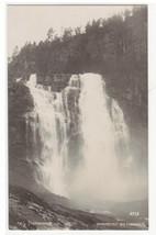 Skjervefossen Skjervsfossen Water Falls Norway RPPC Real Photo postcard - $6.44