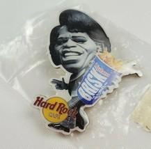Hard Rock Cafe Promo Pin Lipton Brisk Iced Tea James Brown Godfather of Soul - $9.85